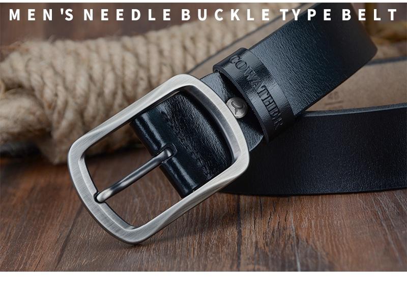 حزام COWATHER جلد طبيعي للرجال 38