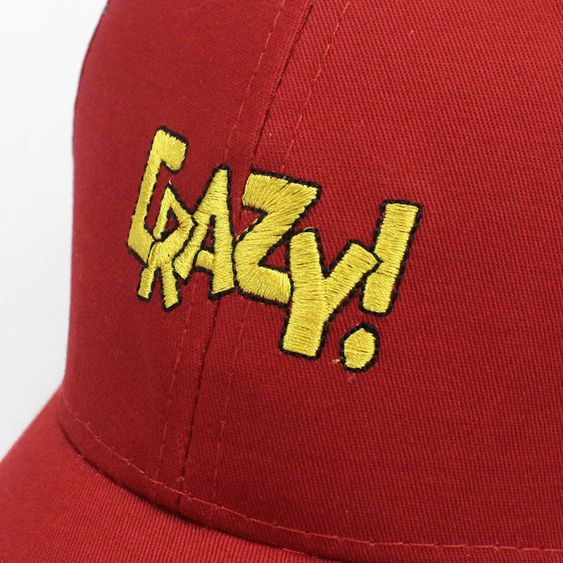 Cute children baseball cap letter embroidery crazy hat for baby girl sun visor hats boys snapback cappellino sombreros red caps