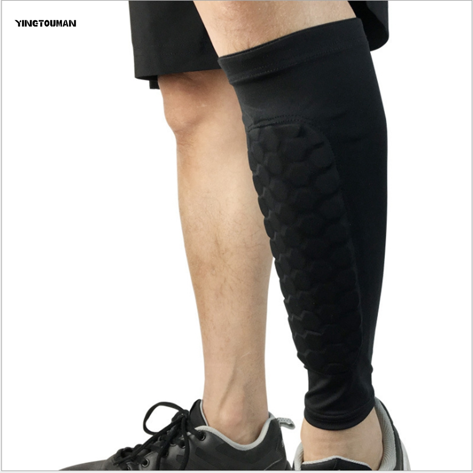 YINGTOUMAN 2pcs/lot Football Shin Guards Sports Safety Honeycomb Soccer Leg Protector Knee Leg Guard Elbow Pad Legs Sleeves