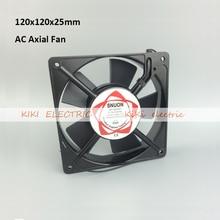 Electronic 2015 2pcs/lot Oil Bearing type 120 series Axial Airflow Fan 120*120*25mm AC220v Cooler Fan for Industrial XF1222ASH цена 2017