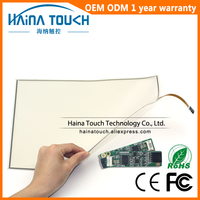 Win10 Compatible 16:10 Flexible 14 Inch includes USB Controller 4 Wire Pellicle Touch Screen Panel Kit for photo kiosk/Laptop