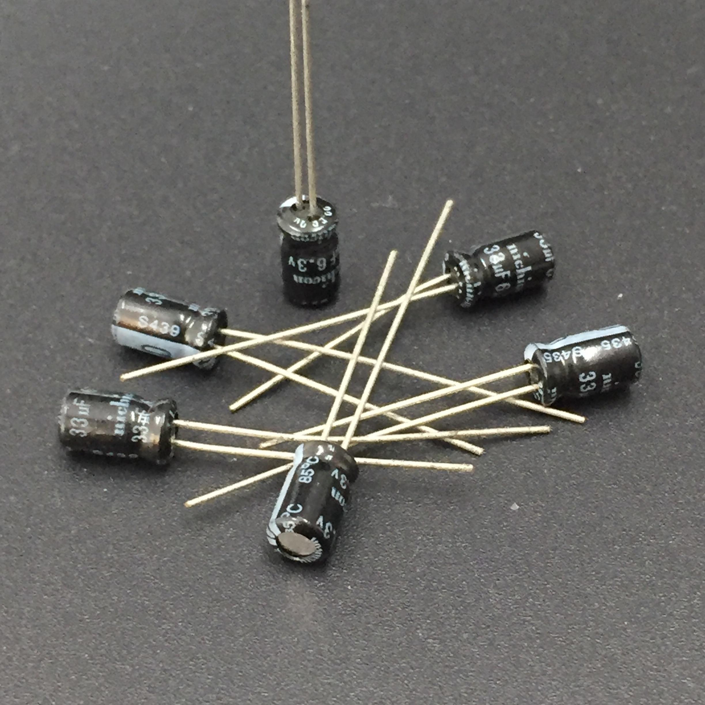 ELECYINGFO 10pcs 33uF 6.3V NICHICON 4x7mm High Quality 6.3V33uF Aluminum Electrolytic Capacitor
