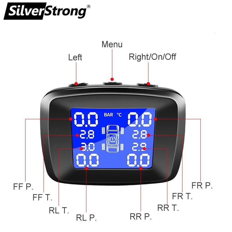 DC12V plug car Tire press monitor tire temperature monitor TPMS android usb port Cigarette lighter tire alarm  tire sensor igniter USB charger (3)