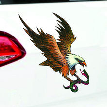 Auto Decal Flying Hawk Auto Truck Hood Side Eagle USA Vlag Sticker(China)