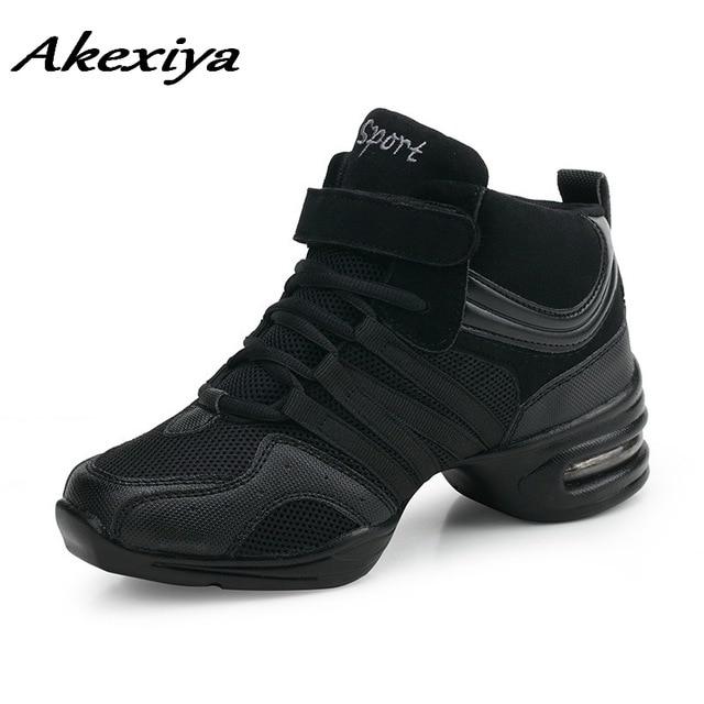 women dancing shoes heels leather air cushion net high quality Girls Ladies Women's Tango Latin dance shoes Ms sneakers black