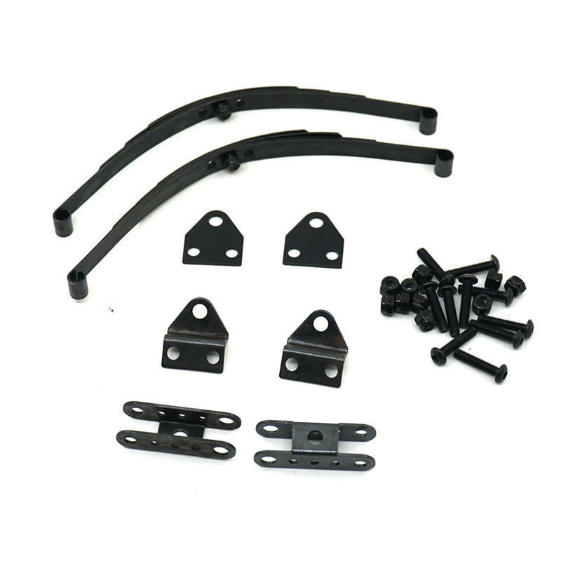 Black Hard Leaf Spring Suspension Steel Bar Set for 1:10 RC Rock Crawler RC4WD D90 Axial SCX10 F350