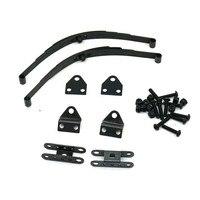 Siyah Sert Yaprak Yaylı Süspansiyon Çelik Bar Set 1:10 RC Kaya Paletli için RC4WD D90 Eksenel SCX10 F350