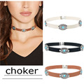 2016 New Brown Leather Rope Necklaces Goth Fashion Designer Collar Chokers Necklace For Women Factory Wholesale Bijoux