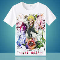 Camiseta de manga corta de algodón Casual de manga corta de alto-Q Unisex Anime Cos The Seven Deadly Sins