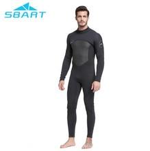 SBART Men Wetsuit One Pieces Suit Diving Surfing Snorkeling Swimwear Fishing Spearfishing Full Body Jumpsuit 3mm Neoprene цена и фото