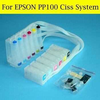 6 farbe Mit PP 100 Chip Resetter Für Epson PP50 PP100II PP 100II PP100AP PP100N PP 100N PP100 Ciss System-in Fortlaufendes Tinten-Versorgungssystem aus Computer und Büro bei