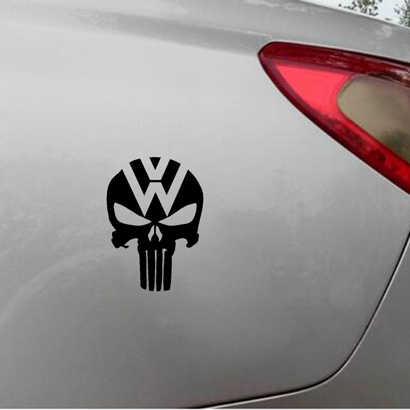 Cool Punisher Skull Vinyl Sticker Marvel Comics Car Window Decals For Volkswagen Vw Turbo And Etc Decoration In Wall Stickers From Home Garden On