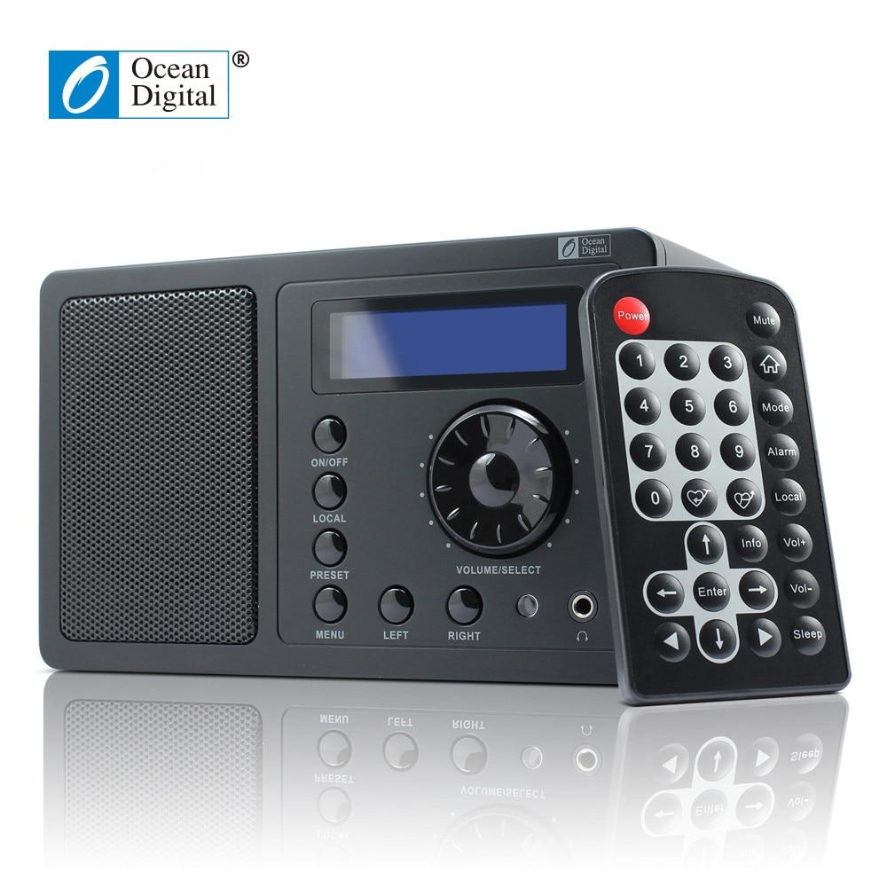 Modestil Wifi Radio Ozean Digitale Wr220 Internet Radio Wlan Wi-fi Verbinden Desktop Mit Fernbedienung Multi-sprache Menü Uns Standard Power Stecker Unterhaltungselektronik Tragbares Audio & Video