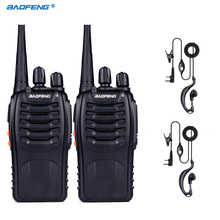 2pcs Baofeng Pofeng BF-888S Walkie Talkie Radio Transceiver 5W 400-470MHz Two Way Portable for Hunting Radio Two Way Radio
