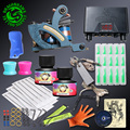 Top Quality Tattoo kit Professional Coloring Tattoo Machine Immortal Ink Sets Disposable Needle Grip Tips Power Supply