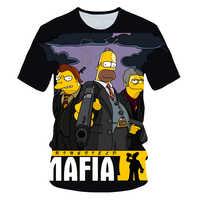 Neue männer frauen fettleibigkeit T-shirt Simpson Drucken 3D T hemd Harajuku cartoon lustige Simpsons T-shirt Oansatz kurz hülse beiläufige t-shirt
