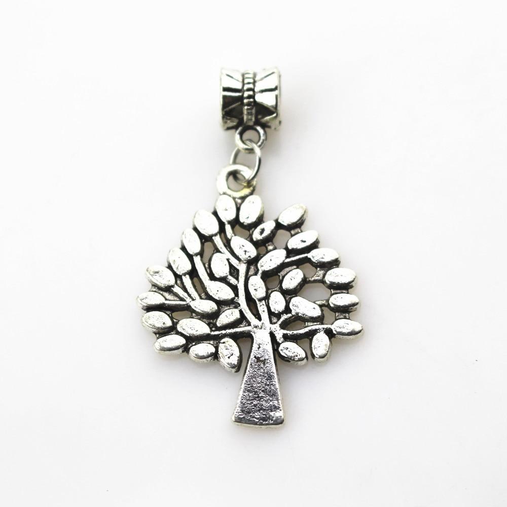 9ad8be4ca7cd Venta caliente 20 unids lote encantos del árbol de la vida encanto  pendiente de los granos del agujero grande para la pulsera del collar la  joyería DIY ...