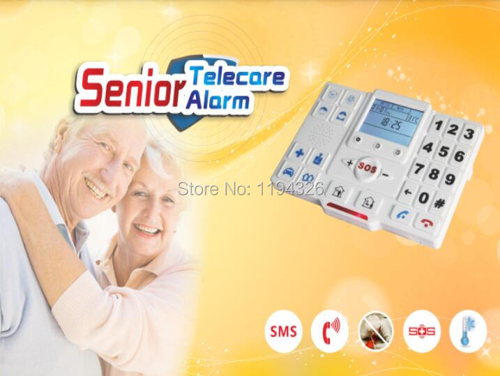 Android APP & Ios App wireless gsm telecare dialler Aged Elderly Senior care products with gsm emergency button senior