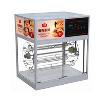 Commercial Food Insulation Cabinet Egg Tart Insulation Showcase Rotation Food Thermal Insulation Case