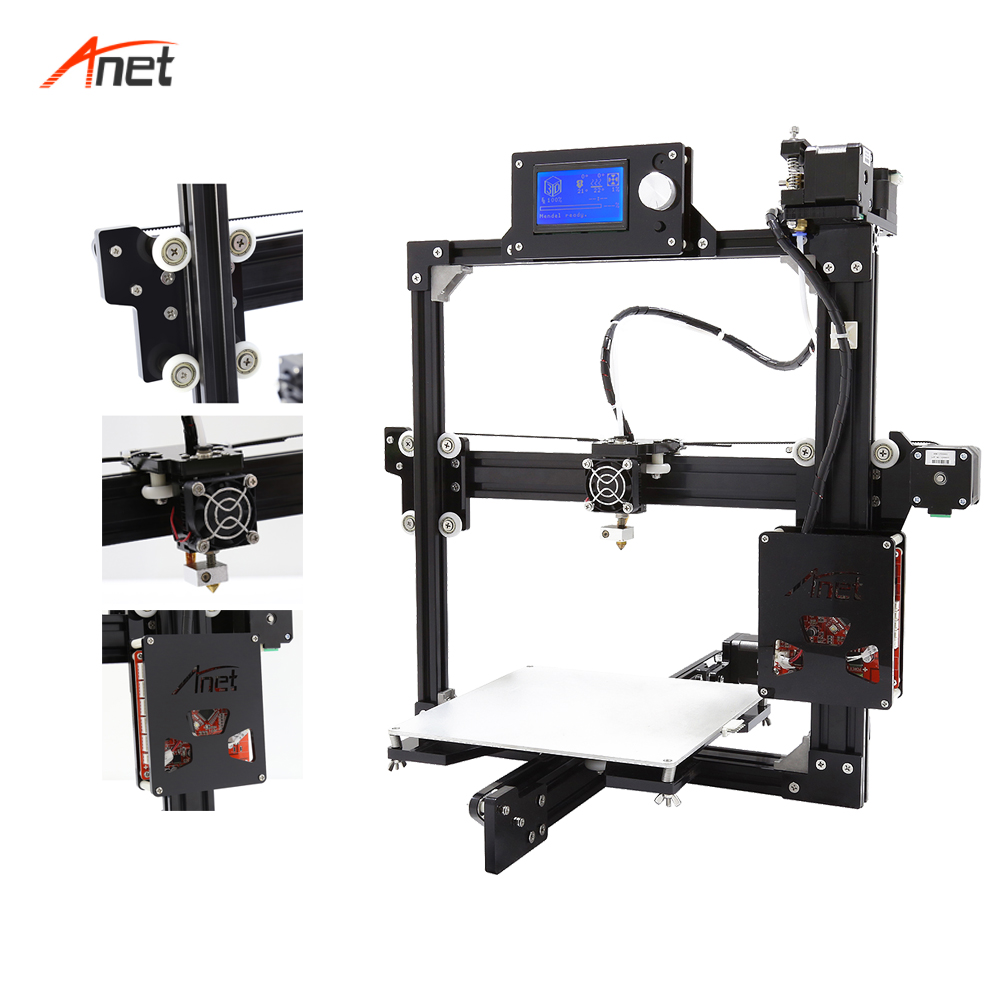 Anet a2 peso leve salvar o custo de frete 3d kit impressora única cor metal quadro 1.75mm filamento impressora 3d 0.1mm precisão - 3