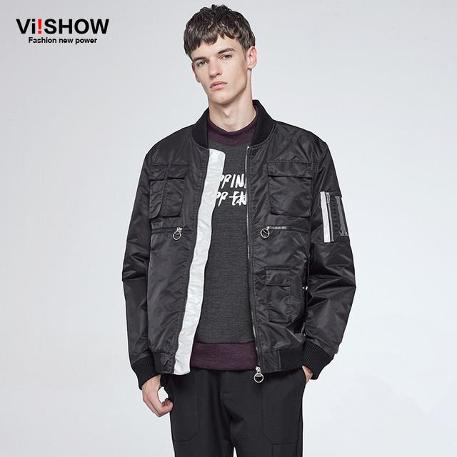 VIISHOW Inverno Jaqueta Parka Homens Roupas 2016 Bolso Com Zíper Dos Homens Marca de Design de Moda Quente Casaco Masculino Plus Size Outwear MC39864