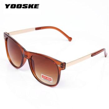 YOOSKE Vintage Men's Women's Sunglasses Male Female Sun Glasses Fashion Feminine Masculine Goggle 5