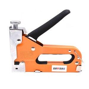 Image 2 - Agrafeuse à ongles manuelle 3 en 1, pistolet avec 600 pièces, pour meuble, tapisserie, outil manuel ménager