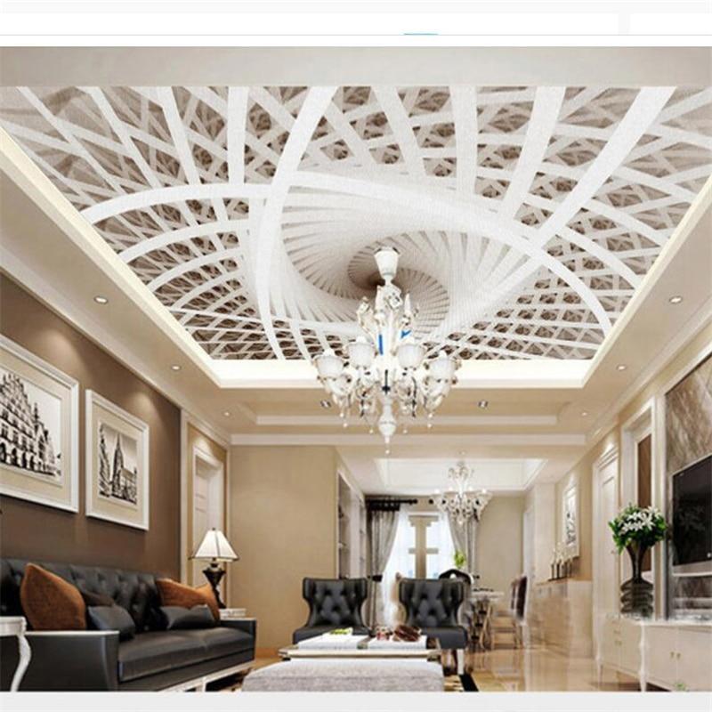 Beibehang Papel De Parede Customized Photo Wallpaper 3D Stereo Art Geometric Ceiling Papel De Parede 3d Wallpaper For Walls 3 D