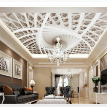 beibehang papel de parede Customized Photo Wallpaper 3D Stereo Art Geometric Ceiling 3d wallpaper for walls 3 d