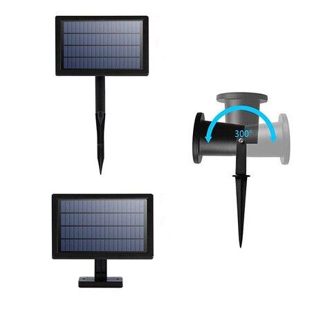 dcoo luz laser projetor solar holofotes 2led