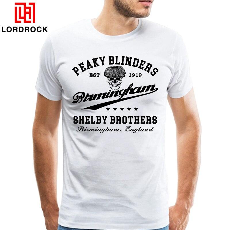 09c2ed6ee T Retro Peaky Blinders Roupa Masculina Plus Size Camiseta Camiseta Masculina  Básica T-shirt Filme