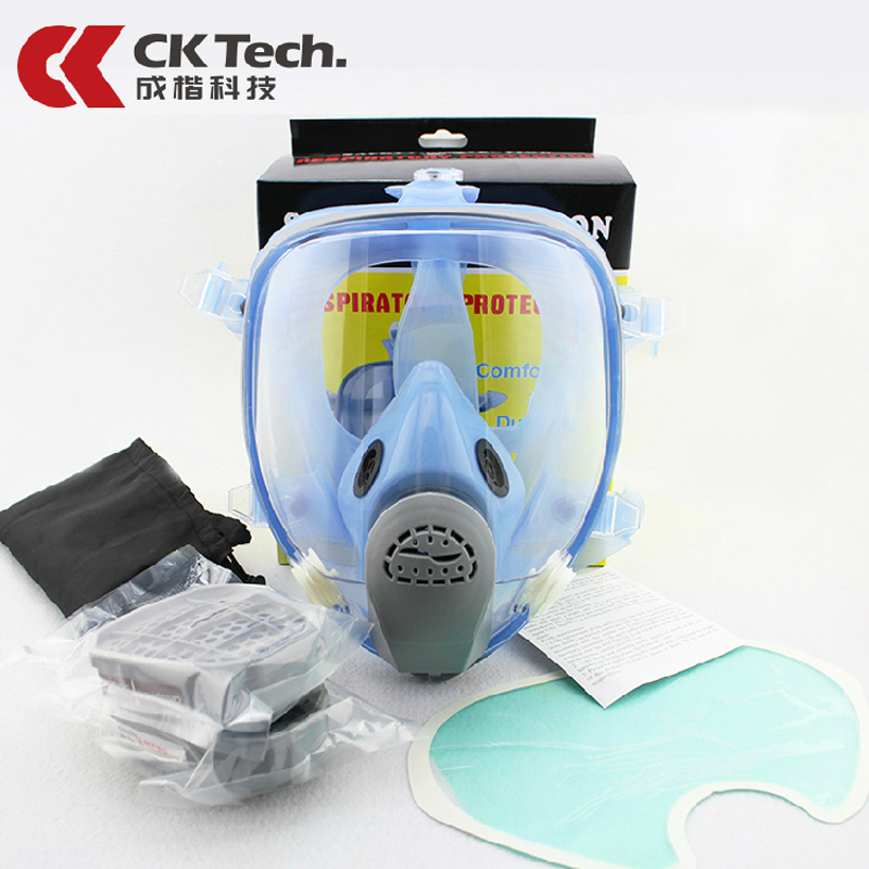 Fully Sealed Gas Mask  Fully Enclosed Anti Gas Dust  Paint  Chemical Respirator Efficient Filtration Of Toxic Gases Gas Mask9900 new safurance protection filter dual gas mask chemical gas anti dust paint respirator face mask with goggles workplace safety