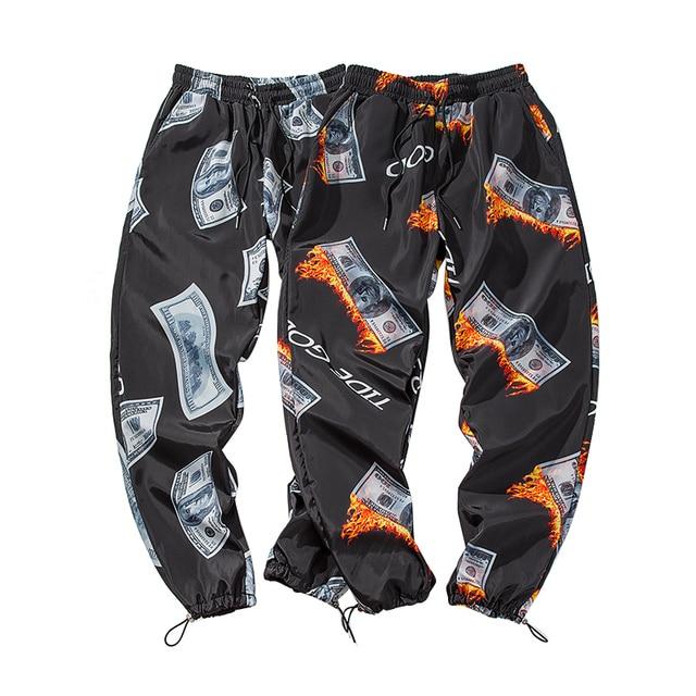 New Fashion Printed Men Harem Pants Hip Hop Casual Streetwear Joggers Men 2019 Summer Fashion Elastic Waist Trousers LBZ45 4