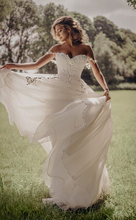 Verngo Ivory Flower Tulle Wedding Dress Strapless Lace Up A Line Gowns Sleeveless Bride Vestido De Novia