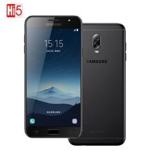 Разблокирована оригинальный Samsung Galaxy C8 SM-C7100 3 г Оперативная память 32 г Встроенная память 16MP Фронтальная камера Две sim-карты Octa core 4 г LTE смартфон мобильного телефона