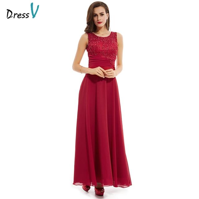 Vestido Rojo largo 2017 vestido de noche largo elegante simple una ...