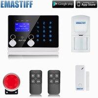 GSM RFID Système D'alarme avec Écran Tactile et APP contrôle! meilleur Système D'alarme Maison Intelligente