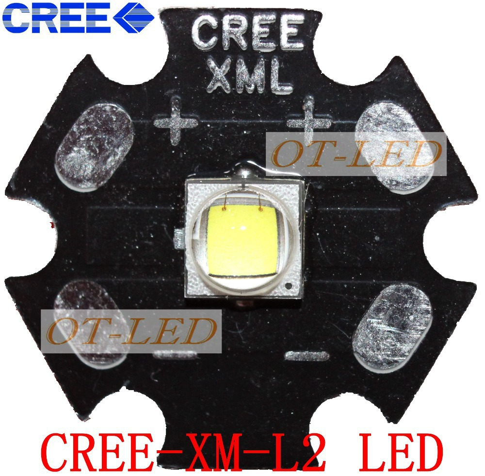 CREE XML2 LED XM-L2 T6 3C 10W Neutral White 4500-5000K High Power LED Emitter Bulb with 20/16/14/12mm Heatsink PCB налобный фонарь other 3c 350lm cree xm l l2 c3 ssy 3772