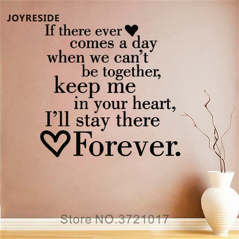 JOYRESIDE If There Ever Comes A Day When Wall Decal Quote Words Vinyl Sticker Home Room Art Decor Interior Decor Wall Decal A586 image