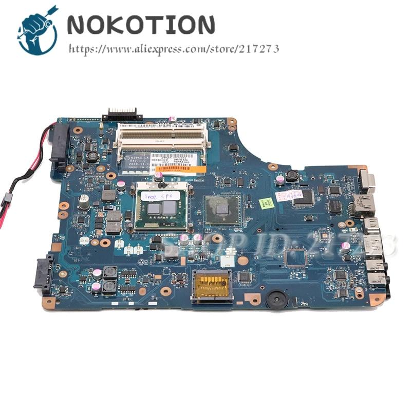 NOKOTION Laptop Motherboard For Toshiba satellite L500 Main Board K000092540 LA-5321P L500-00X PSLS6A-00X013NOKOTION Laptop Motherboard For Toshiba satellite L500 Main Board K000092540 LA-5321P L500-00X PSLS6A-00X013