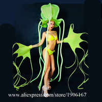 Fluoreszierende Octopus Sexy Lady Tanzen Anzug Bühne Leistung Kleidung Nachtclub Bar Party-Event Dance Team Ballsaal Kostüm