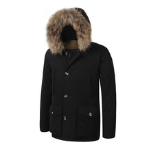 2017 Brand New Mens Men's Arctic Down Parka With Big Removeable Raccoon Fur Thick Winter Windstopper Waterproof  clothes
