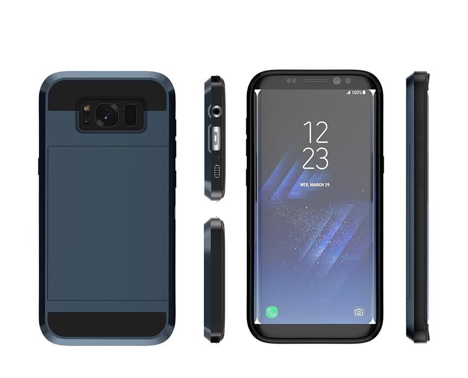 For Samsung S8 Plus Armor Case Galaxy S8 Hidden Card Slot Phone Cases  (8)