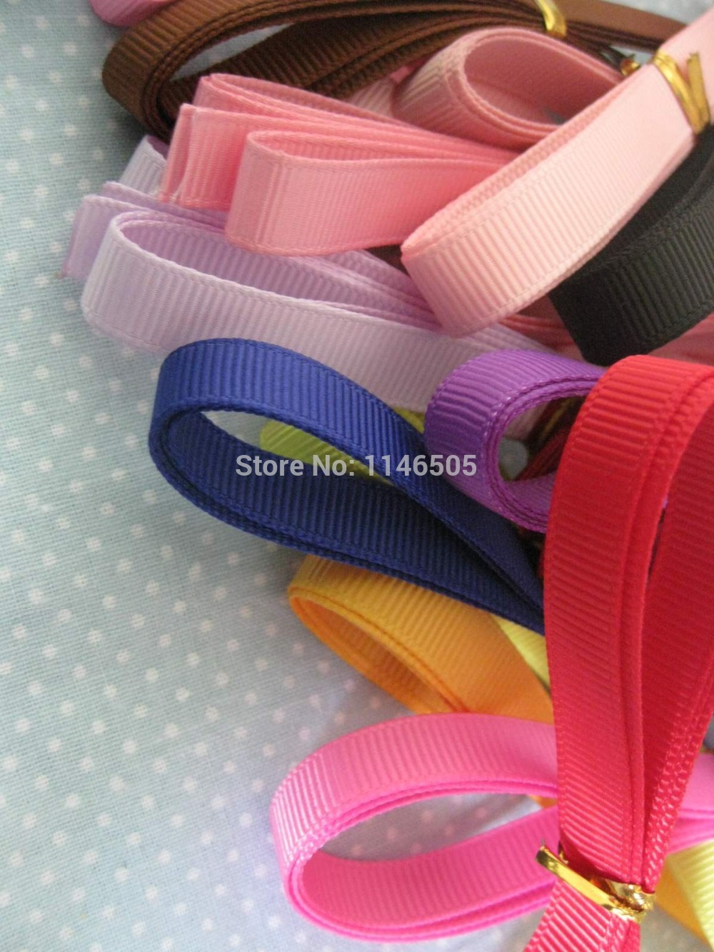 30pcs 3/8 Mix Colors Random Style Colorful Grosgrain Wedding Party Deco Craft Festive sa ...