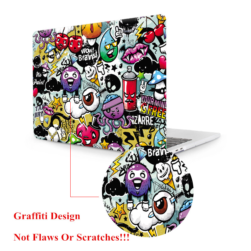 "Image 4 - MTT Graffiti Print Case For Macbook Air Pro Retina 11 12 13 15 inch With Touch Bar Laptop Bag Sleeve For macbook Air 13.3"" Cover-in Laptop Bags & Cases from Computer & Office"