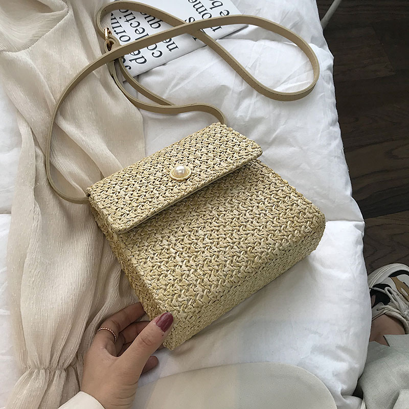 Weaving Crossbody Bags For Women 2020 Summer Beach Bag Ladies Shoulder Messenger Hand Bag Female Travel Hand Bag Dropshipping