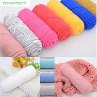 500g Bag 36 Colors Soft Silk Milk Cotton Yarn Thick Yarn For Hand Knitting Baby Wool