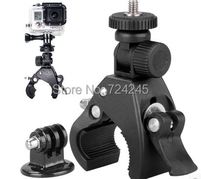 New Accessory Bicycle Bike/Motorcycle Handlebar Handle Bar Camera Mount Holder +Tripod Mount Adapter For GoPro Hero 1 2 3 3+ 4
