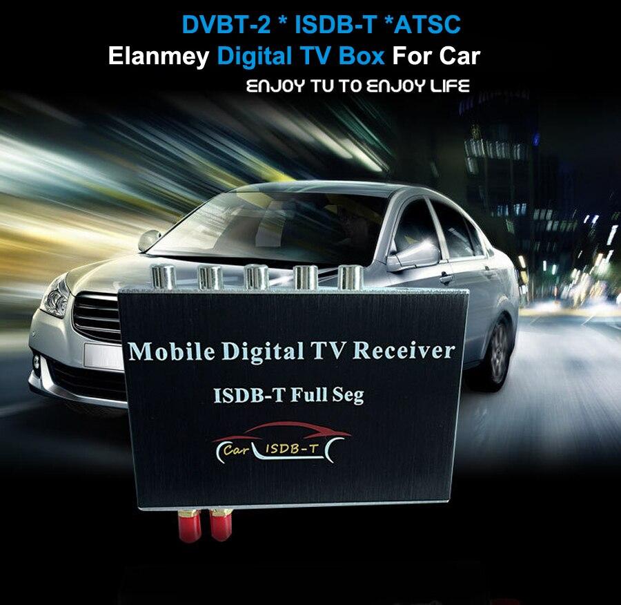 Récepteur de télévision de voiture Mobile Elanmey HD ISDB-T DVBT DVBT2 ATSC TV numérique pour véhicule
