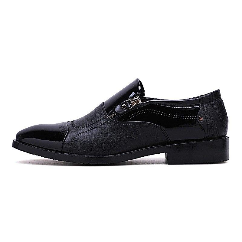 Cuir Casual 3848 Respirant Noir Mode Haute Qualité marron Vente Véritable Hommes HommesPlus Doux D'affaires Chaude De Chaussures Grande Taille Oxford En XuwOPZkiTl